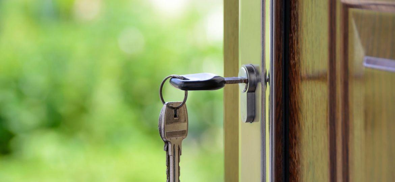 House key in lock